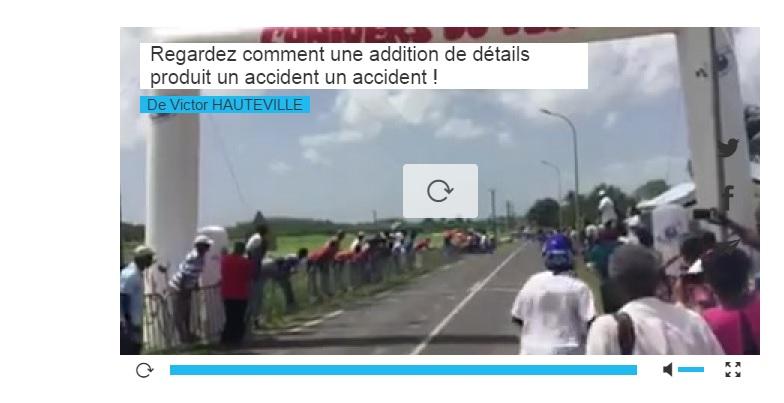 Regardez comment une addition de plusieurs détails produit un accident !