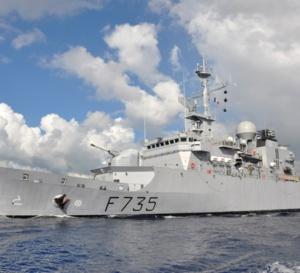 La frégate de surveillance Germinal de la Marine nationale aux Antilles a intercepté un go fast