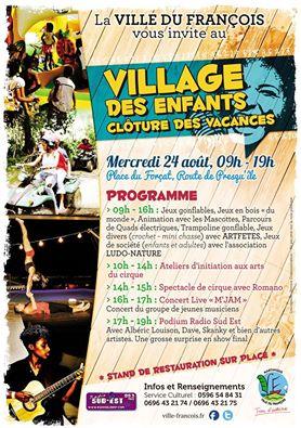 FRANCOIS: Un village des enfants pour clôturer les vacances.