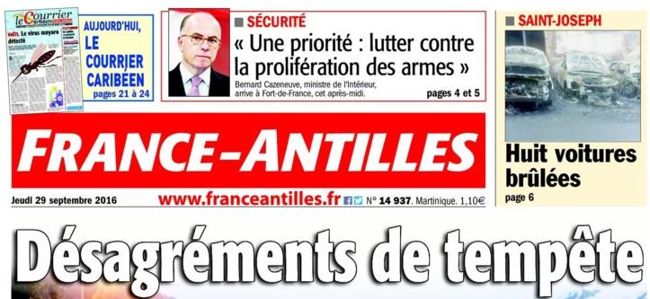 France Antilles en totalement numérique ce 29 Décembre 2016em