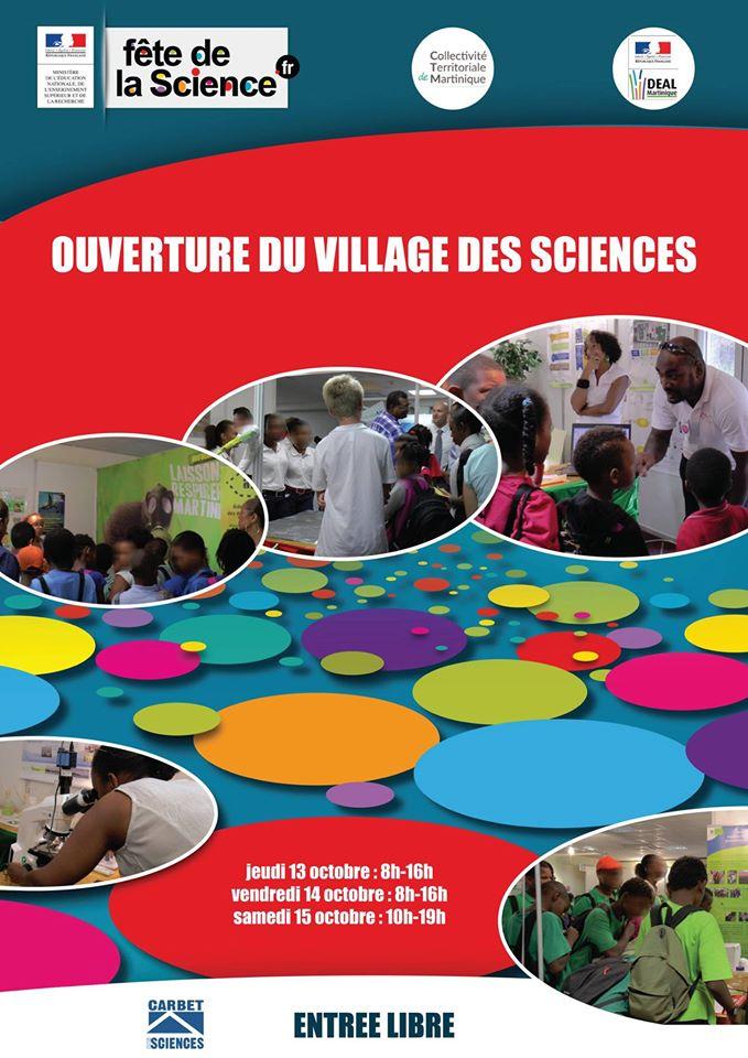 Jeudi 13 octobre :OUVERTURE du VILLAGE DES SCIENCES au Palais des Congrès de Madiana