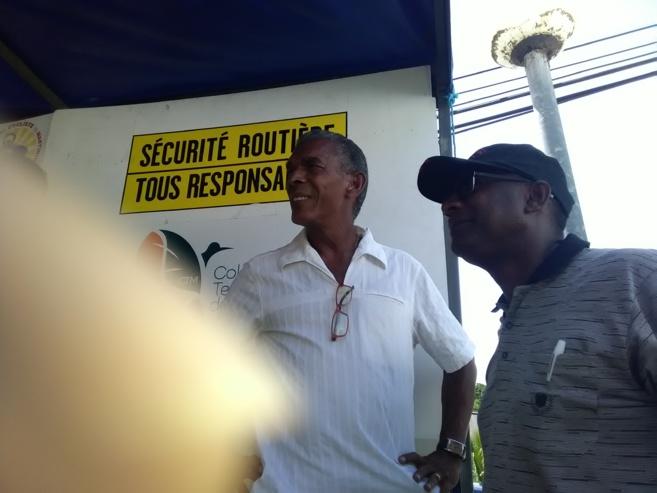 Sainte Rose Ckin Maire du MACOUBA était heureux de recevoir le Tour une tradition selon lui