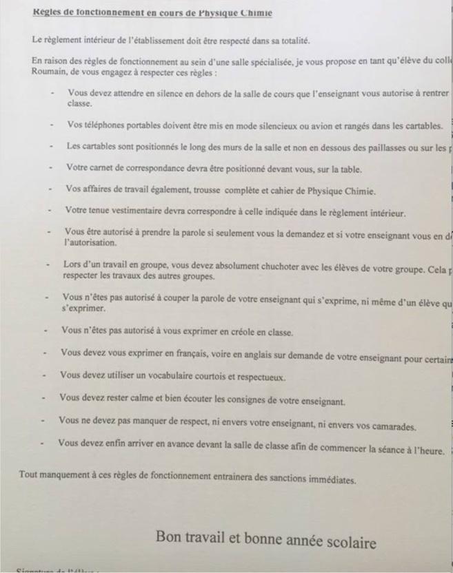 [Rivière pilote] un enseignant voudrait empêcher aux élèves de parler le créole.