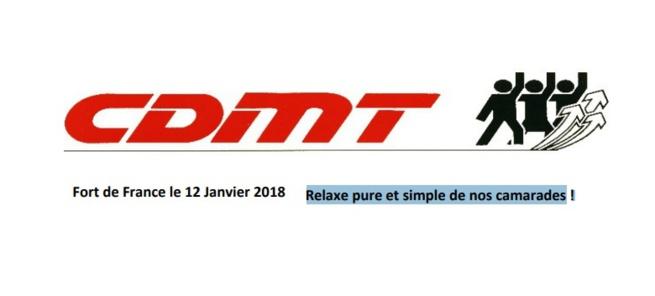MARTINIQUE actualités La lettre de la CDMT adressée à la Garde des(...)