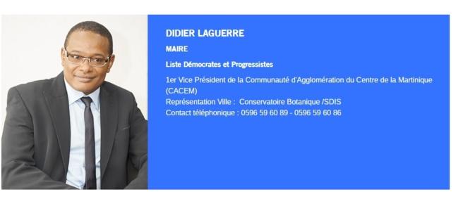 Martinique institutionnelle : Didier Laguerre Fort-de-France, c'est ma passion !