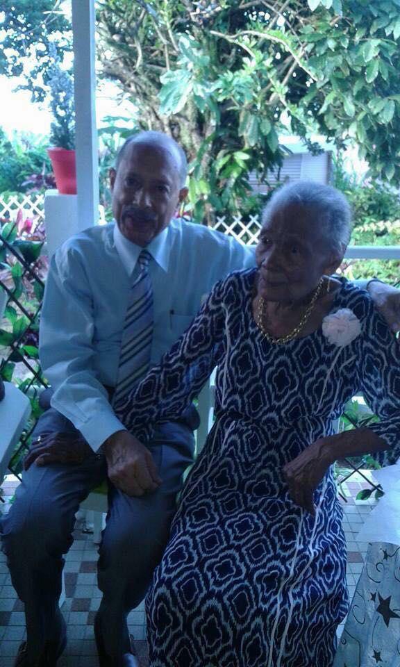 Décès à 102 ans,de la mère de claude Lise le président de l'assemblée de la CTM;