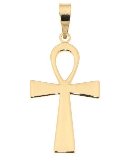 L'ânkh ou croix ansée (☥ unicode U+2625) est le hiéroglyphe égyptien représentant le mot ˁnḫ, qui signifie « vie ». C'est un attribut des dieux égyptiens qui peuvent le tenir par la boucle, ou en porter un dans chaque main, les bras croisés sur la poitrine. Tony Chasseur en a fait son symbole