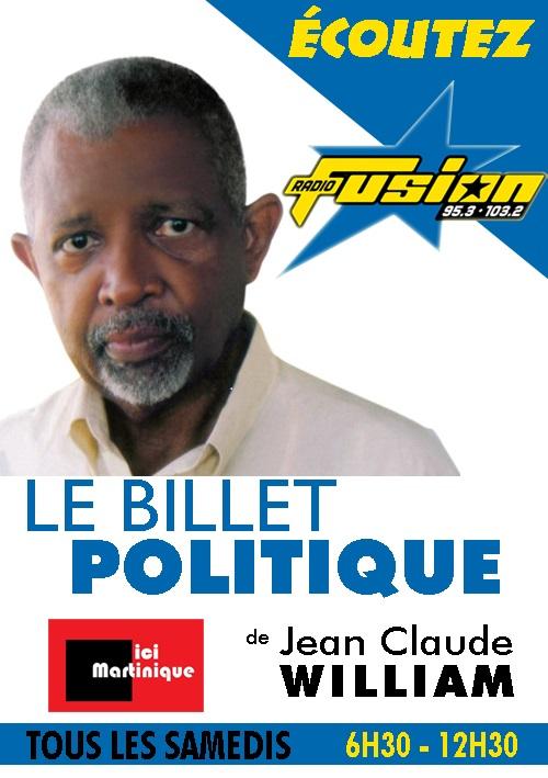 Le billet politique de Jean Claude William; La Nouvelle-Calédonie.