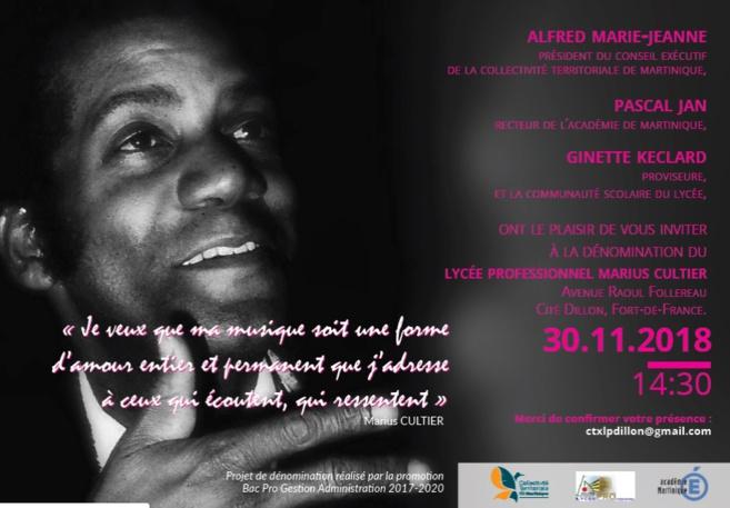 Marius Cultier, le pianiste Martiniquais  aura un lycée à son nom !