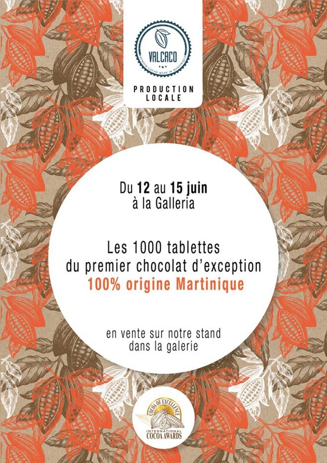 Les premières 1000 tablettes de chocolat 100 % MARTINIQUE.