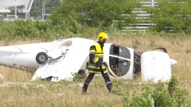 L'avion a raté son décollage et c'est crashé à Pole Caraïbe