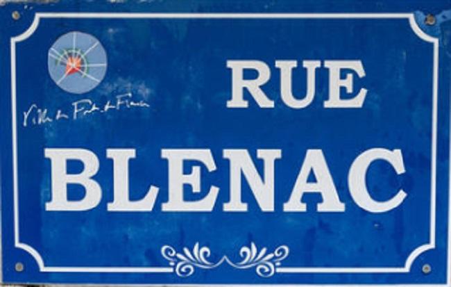 Lettre ouverte à Didier Laguerre : Mr le maire que pensez vous de l'idée de changer le nom de la rue Blénac ?