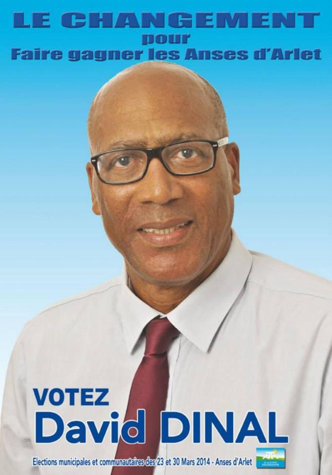 David Dinal est candidat aux Anses D'Arlet