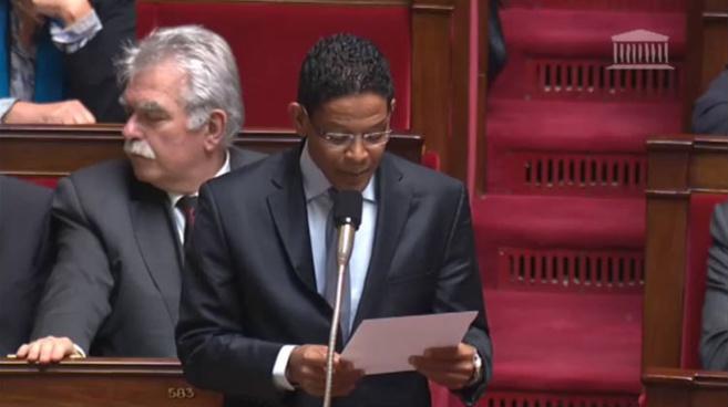 Jean Philipe Nilor à l'Assemblée Nationale.