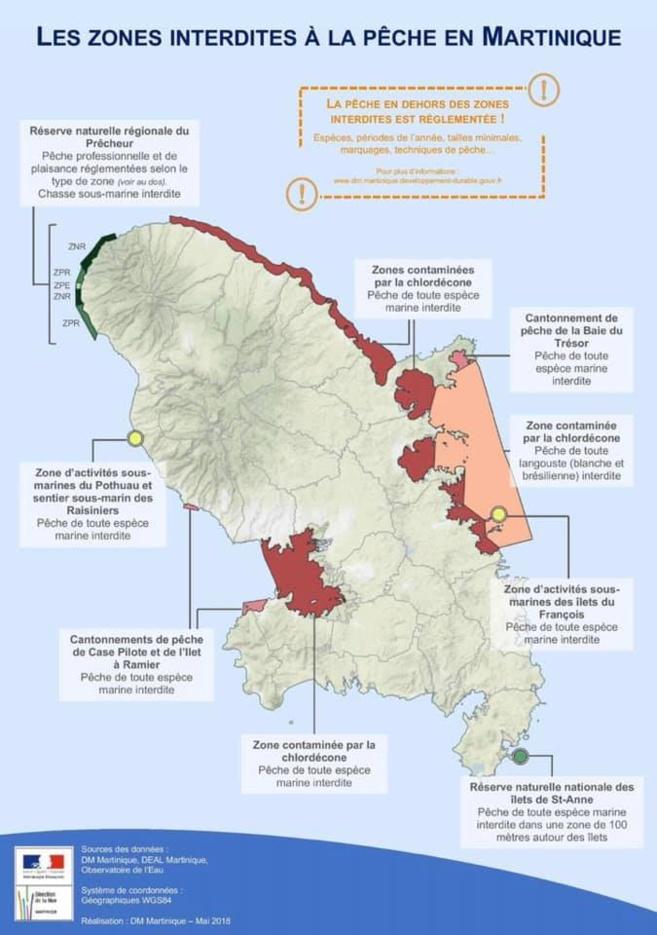 Zones de pêche impactées