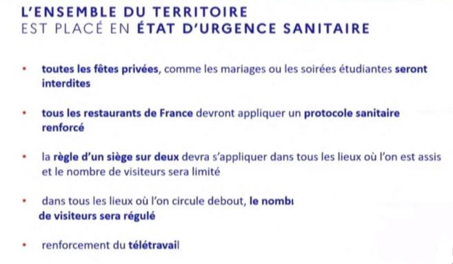 Jean Castex annonce une interdiction des fêtes privées sur l'ensemble du territoire