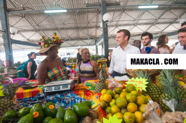 Emmanuel Macron en Martinique Photo Serge Boissard