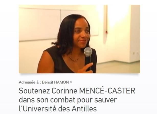 Soutenons Corinne MENCÉ-CASTER dans son combat pour sauver l'Université des Antilles