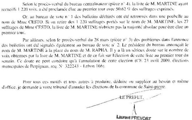 A notre avis RAPHAEL MARTINE est cuit :lisez la déposition du préfet. le document circule déjà dans tout SAINT PIERRE