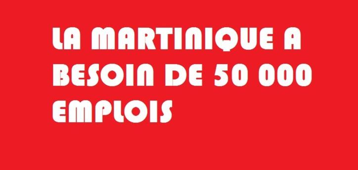 Pour télécharger le document cliquez sur l'affiche la Martinique a besoin de 50000 emplois