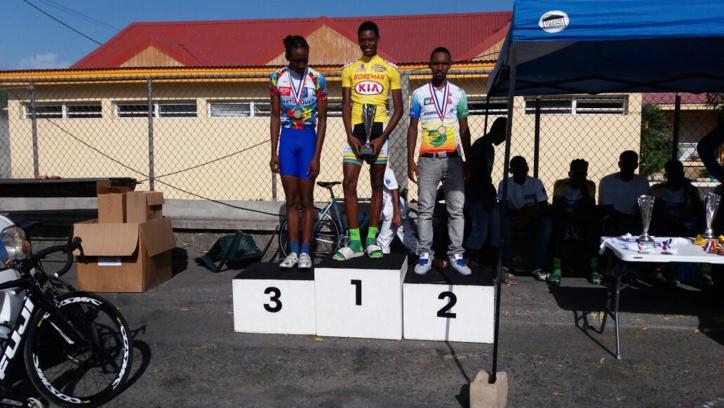Bon comportement de notre sélection cycliste de Martinique Cadets