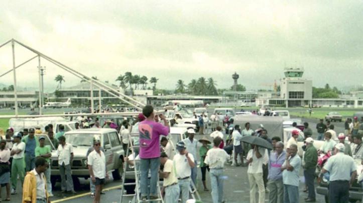 « La prise du tarmac », c'est-à-dire l'occupation pendant plusieurs jours des aéroports internationaux de Martinique et de Guadeloupe,