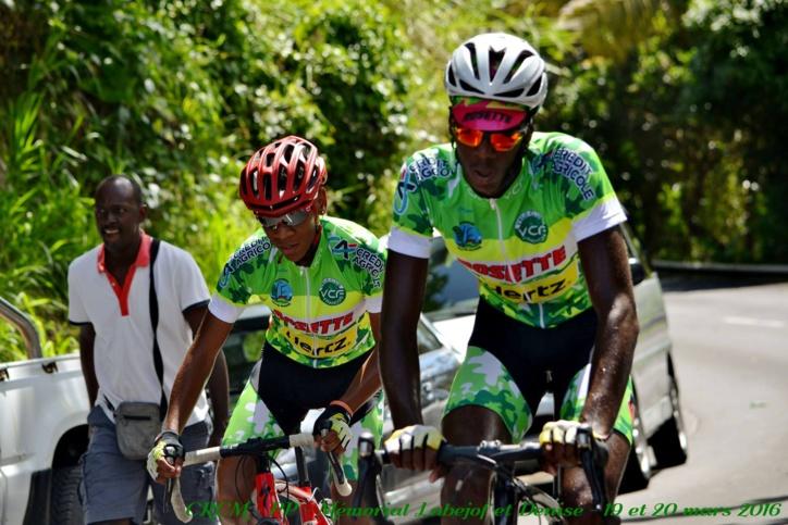 Tour de Guadeloupe LE VELO CLUB DU FRANCOIS 3éme général avec Edwin NUBUL.