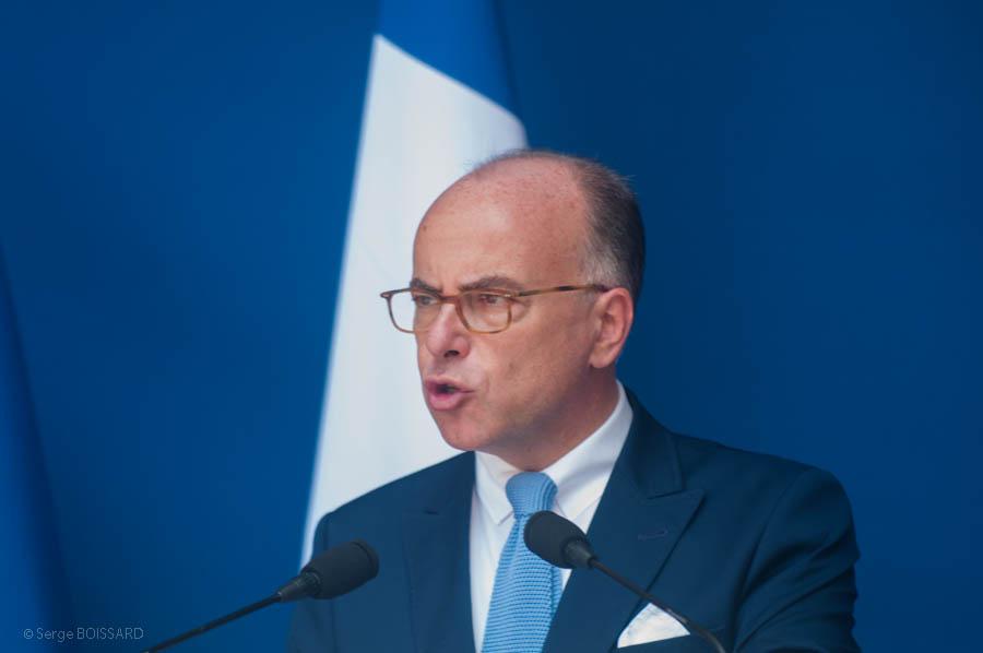 Le patron du ministère de l'intéreur Bernard CAZENEUVE