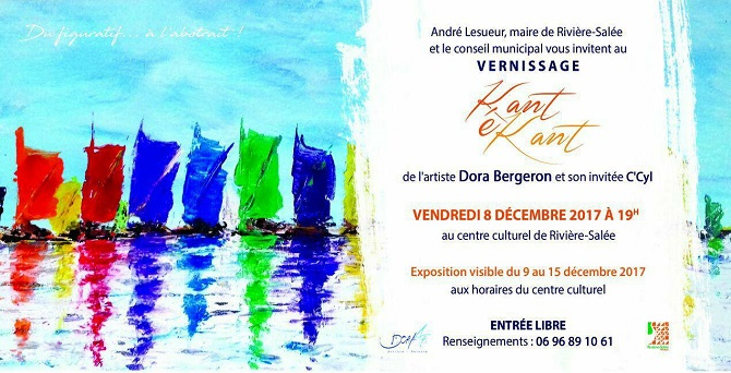 Vernissage à Rivière Salée :Dora Bergeron et invités