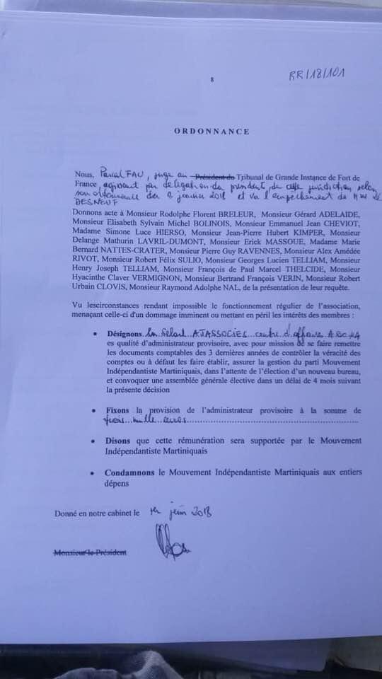 Document récupéré sur le mur FB de DMS