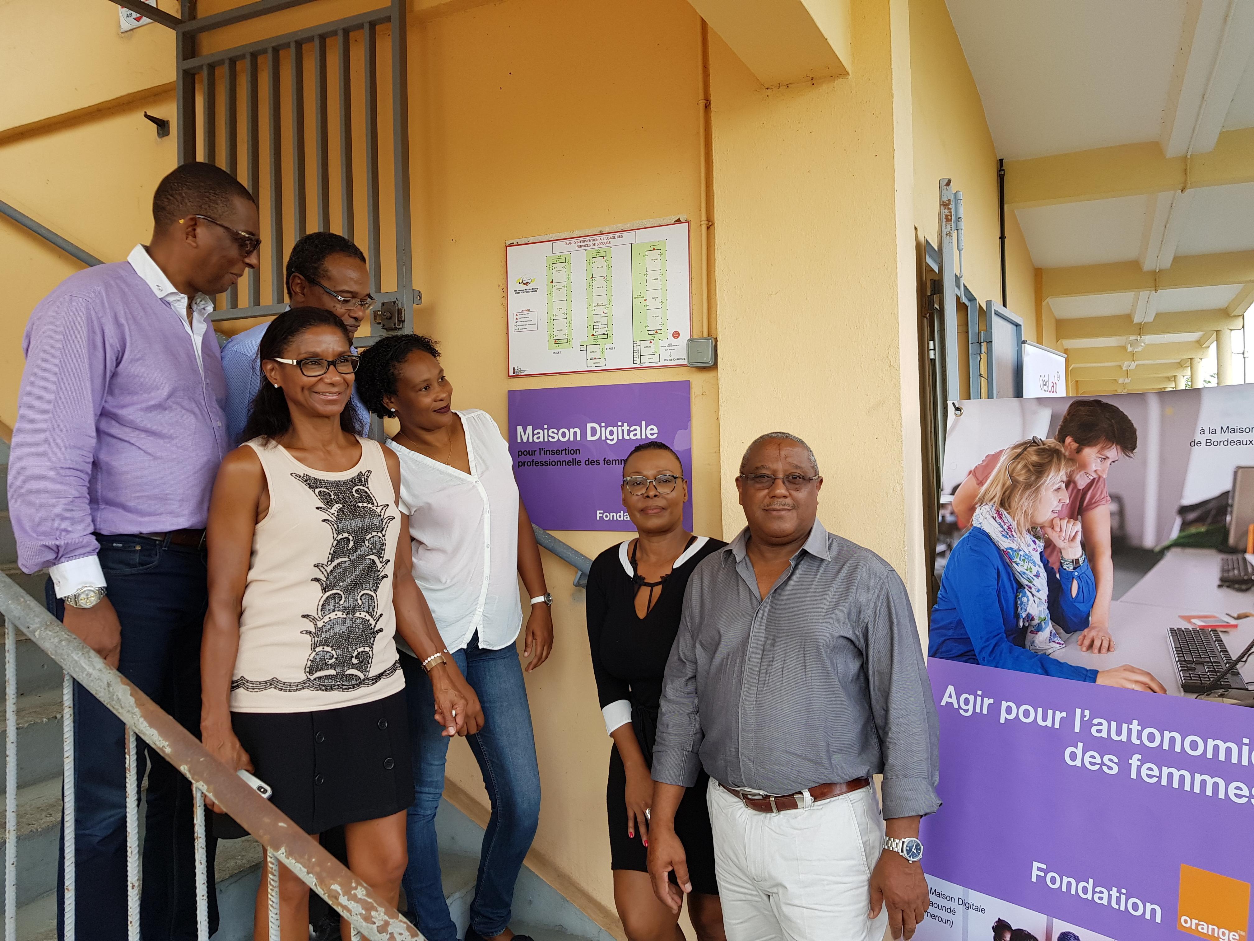 La fondation Orange, la ville de Fort de France  et l'association coup de pouce ont ouvert la première maison digitale de la Martinique.