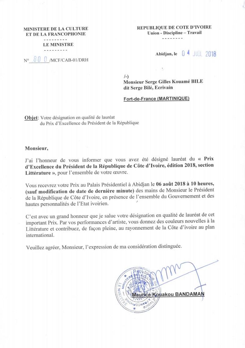 Serge Bilé,  Prophète dans son pays natal !