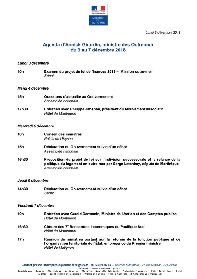 Agenda politique d' Annick Girardin