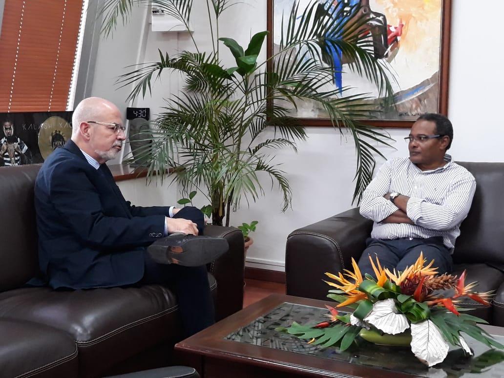 Didier Laguerre  a reçu la visite informelle de Monsieur Christophe Straudo, Premier Président de la Cour d'Appel de Fort-de-France