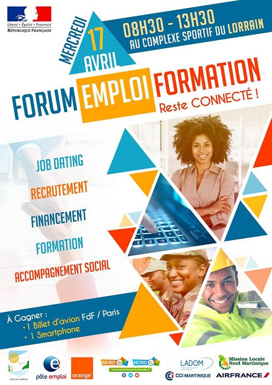 La ville du Lorrain accueille le 3ème FORUM pour l'EMPLOI et la FORMATION de l'arrondissement Nord de la Martinique,