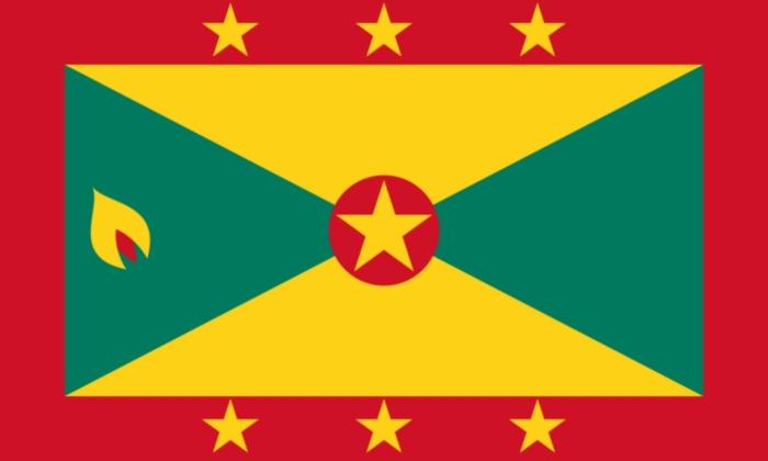 Habituez vous au drapeau de Grenade. Il y en a partout dans l'île.
