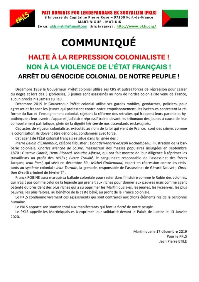 13 janvier /  La riposte anti-répression s'organise !