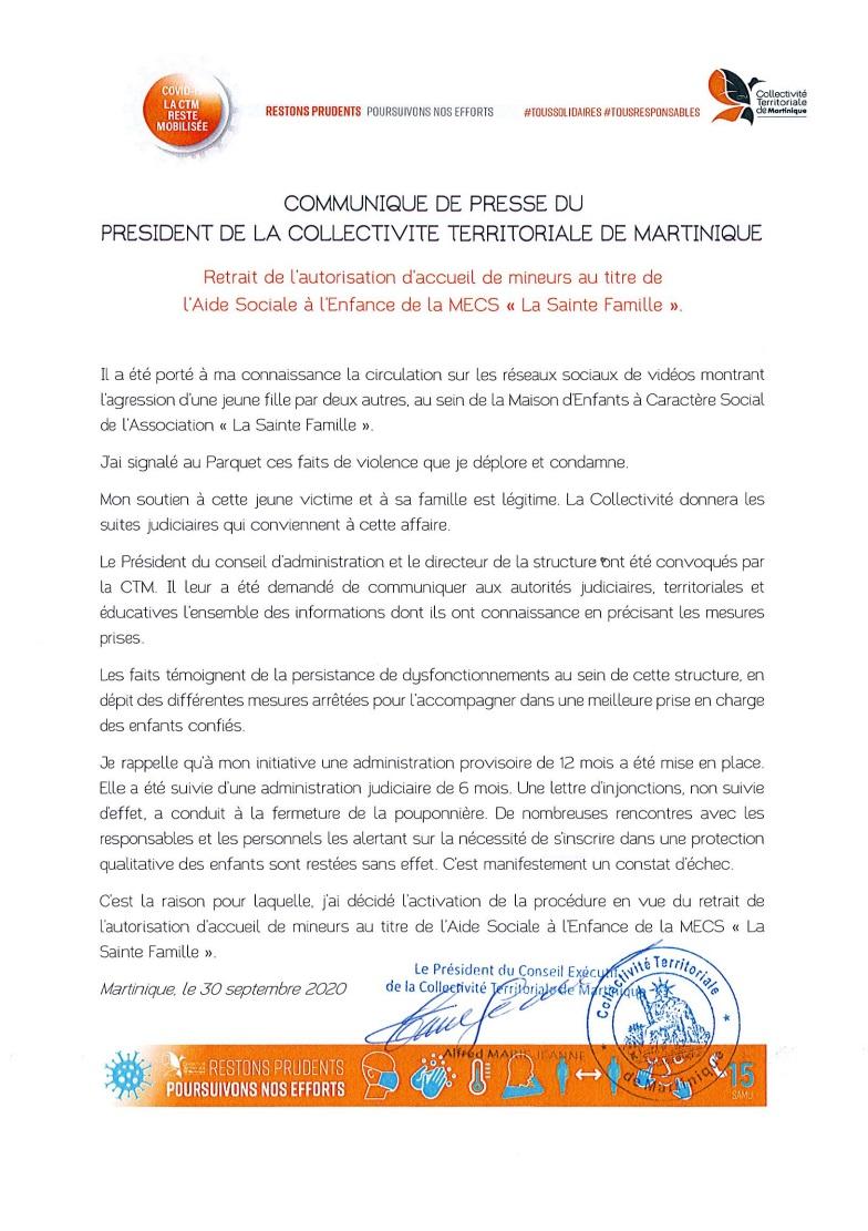 """Retrait de l'autorisation d'accueil de mineurs au titre de l'Aide Sociale à l'Enfance de la MECS """"La Sainte Famille"""""""