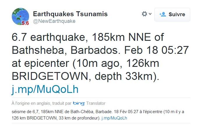 Chômage, violence, et tremblement de terre.