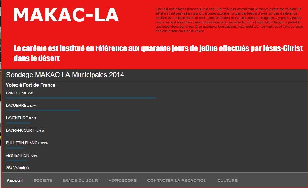 Dispositif mis en place par MAKAC LA  pour les élections municipales 2014.