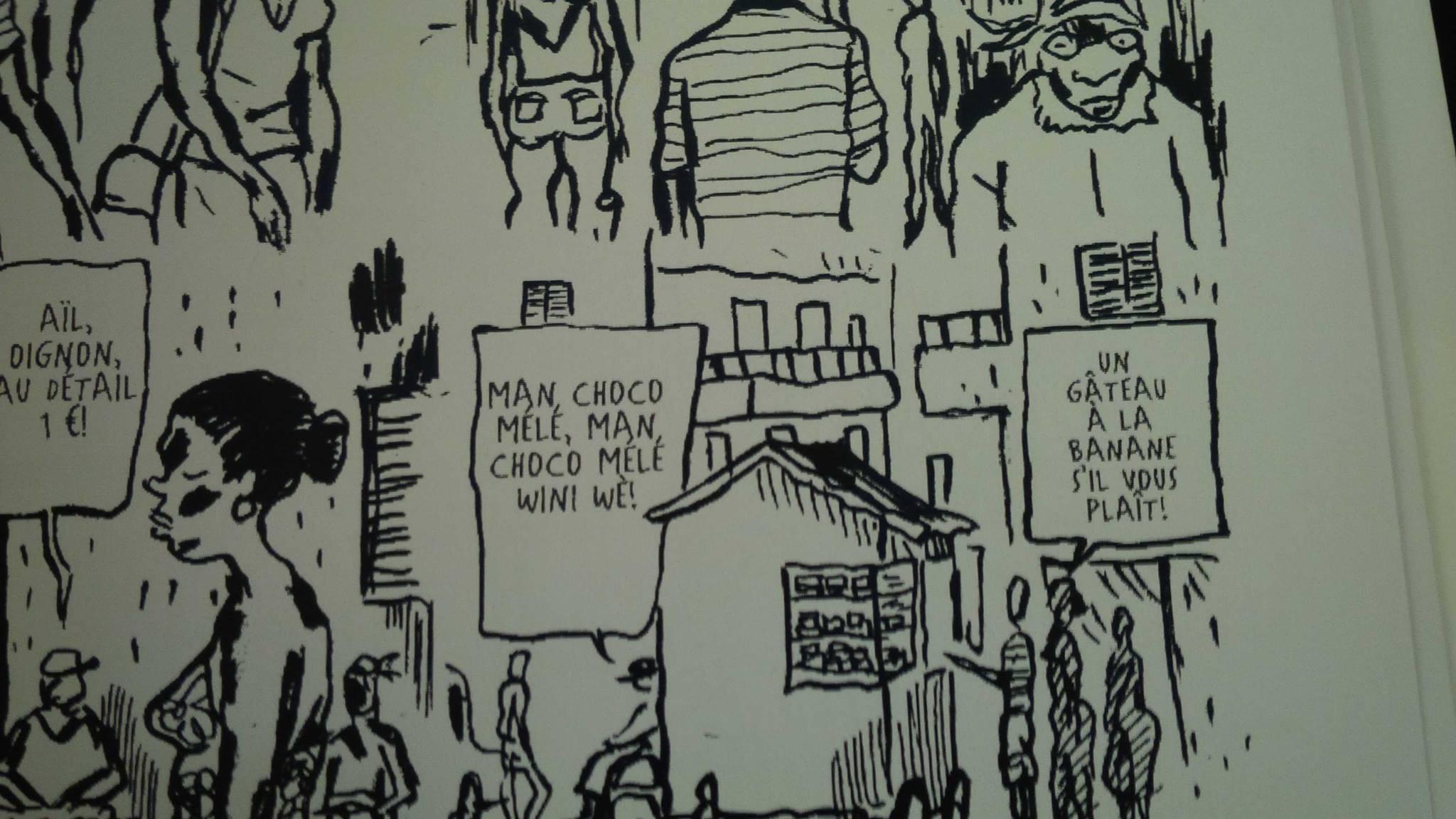 """Man coco, m'a inspiré cette case dans la BD Eleanor (prix de la BD alternative - turkey 16 - Angoulême 2008). """"Man coco mélé"""" vive Man Coco... jack exily"""