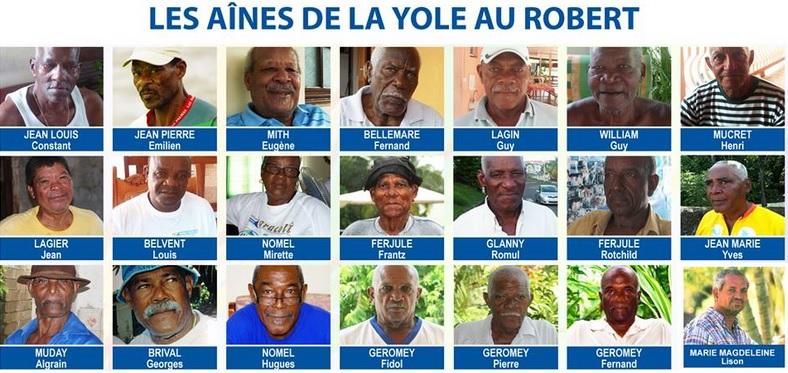 Hommage rendu aux anciens de la yole au Robert en 2011