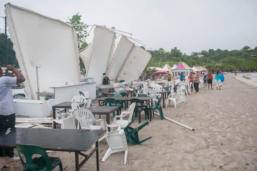 Ce matin à Trinité après le coup de vent
