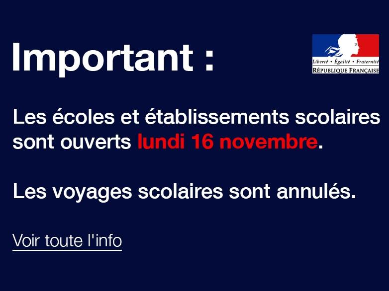 Attentat des Paris: Consignes aux établissements scolaires de Martinique