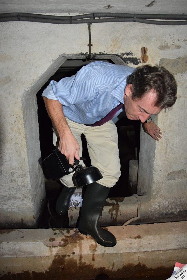 Y-a-t'il un tunnel sous la préfecture de la Martinique?