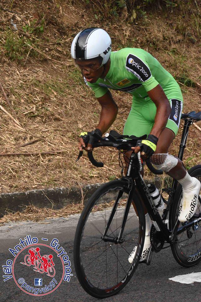 Cédric EUSTACHE maillot jaune au tour de Guadeloupe