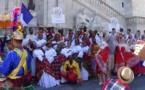 Ballet Pom' Kanel de la Martinique à Rome, au Capitole, à l'occasion du Latium