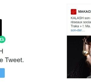 KALASH lit MAKACLA: Merci KALASH de nous retweter