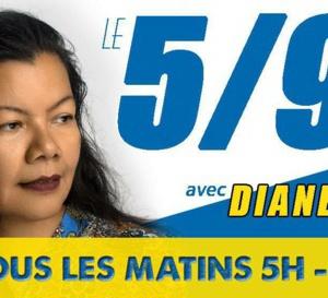 Diane Kissmile  est de retour sur les ondes Martiniquaises. Elle est sur Fusion dans le  5 / 9 !