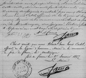 Où se trouvent les troisièmes exemplaires des registres paroissiaux et d'état civil Martiniquais ?